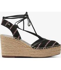 sandaletter kamini mid stripe logo sling