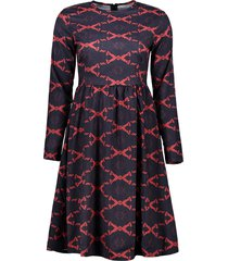 argyle fit and flare dress