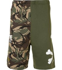 aape by *a bathing ape® camouflage track shorts - multicolour
