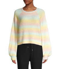bb dakota women's crazy on you striped sweater - size l