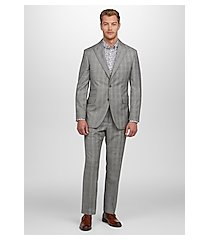 1905 collection tailored fit sharkskin plaid men's suit by jos. a. bank