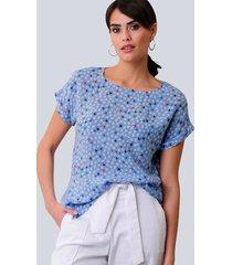 blouse alba moda lichtblauw::wit::marine