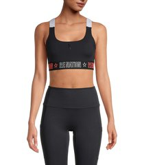 p.e nation women's racerback sports bra - black - size xs