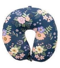 almofada de pescoço stz floral marinho