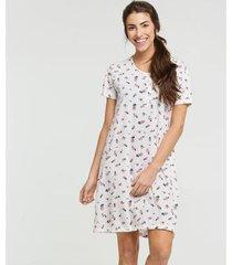 camisola estampa floral manga curta marisa - 10040085319 feminina