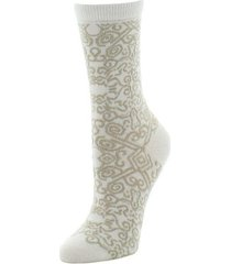natori gobi textile socks, women's, white natori