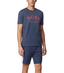 boss men's tee 1 navy t-shirt