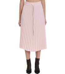 red valentino skirt in rose-pink viscose