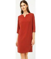 sukienka prosta rdzawa