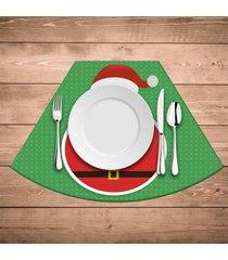 jogo americano para mesa redonda wevans feliz natal kit com 6 pçs