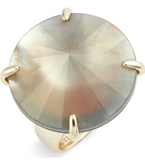 kendra scott jolie cocktail ring, size 7 in gold/gray illusion/white cz at nordstrom