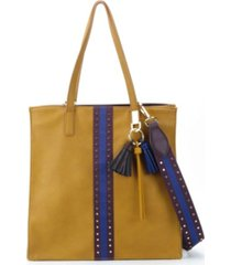 like dreams tassel and studded tote bag