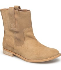 marina s shoes boots ankle boots ankle boots flat heel beige shoe the bear