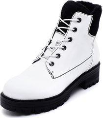 botín blanco eda manzini