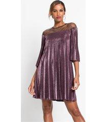 glinsterende plissé jurk