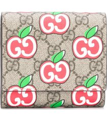 gucci chinese valentine's day gg supreme wallet - neutrals