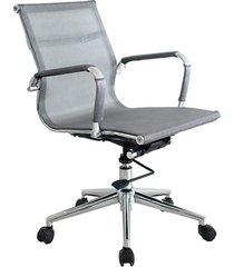 silla para oficina giratoria elegance bice espalda media gris