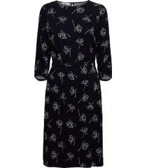 dress woven fabric knälång klänning blå gerry weber edition