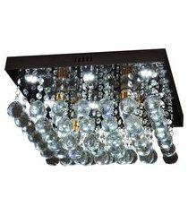lustre de cristal diamante iluminação 6816/400 184w bivolt prata