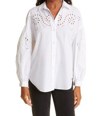 rails alister button-up shirt, size medium in white at nordstrom