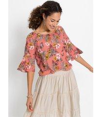 blouse met vlinderprint