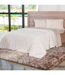 cobertor queen slim peles com porta travesseiro pluma - tessi - estampado - dafiti