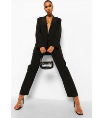getailleerde baggy broek, black