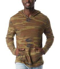 alternative apparel men's marathon printed pullover hoodie