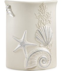 avanti bath, sequin shells wastebasket bedding
