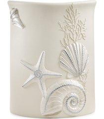 avanti bath, sequin shells wastebasket bedding