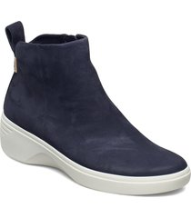 soft 7 wedge w shoes boots ankle boots ankle boot - flat blå ecco