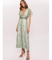 sukienka haftowana