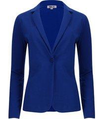 chaqueta tipo blazer unicolor color azul, talla s
