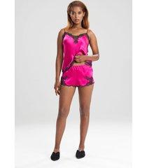 natori lolita tap shorts, women's, 100% silk, size l