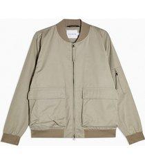 mens beige stone bomber jacket