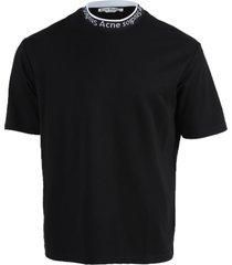 crew-neck logo trim t-shirt