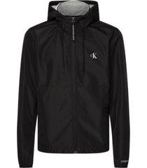 chaqueta con capucha y cremallera negro calvin klein