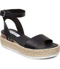 chaser sandal sandalette med klack espadrilles svart steve madden