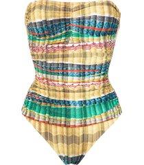 lygia & nanny melissa strapless swimsuit - yellow