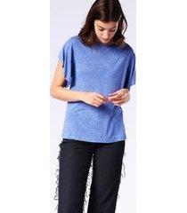 camiseta diesel t-peta-b   feminina azul