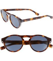 men's boss 50mm polarized round sunglasses -