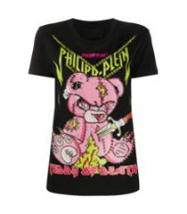 philipp plein camiseta teddy of death - preto