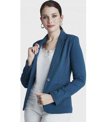 blazer manga larga azul lorenzo di pontti