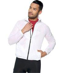 chaqueta rompevientos impermeable blanca - unisex