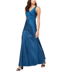 nightway surplice satin gown