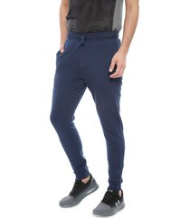 pantalón de buzo under armour rival fleece jogger azul - calce regular