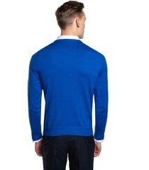 sweter moulin półgolf niebieski