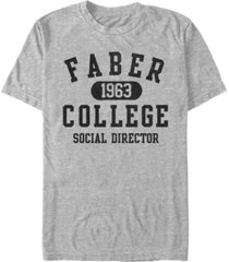 animal house national lampoon's men's faber college social director short sleeve t-shirt