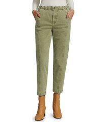 7 for all mankind women's slim fit joggers - military - size 31 (10)