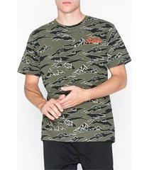 jack & jones jorhike tee ss crew neck t-shirts & linnen ljus brun